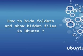 How to hide folders and show hidden files in Ubuntu