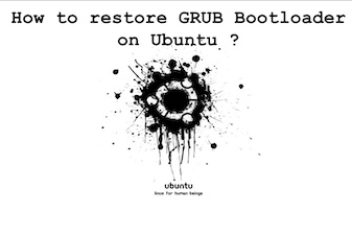 How to restore GRUB Bootloader in Ubuntu