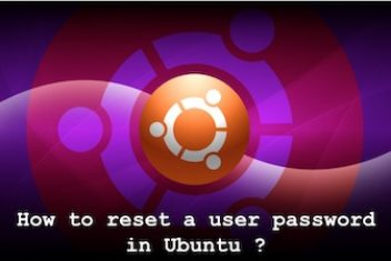 How to reset a user password in Ubuntu ?