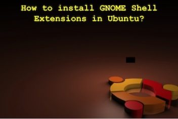 How to install GNOME Shell Extensions in Ubuntu