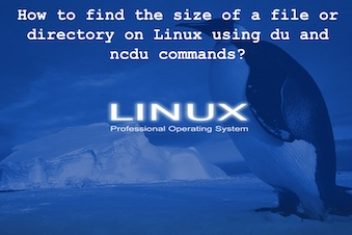 How to find the size of a file or directory on Linux using du and ncdu commands