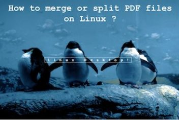 How to merge or split PDF files on Linux