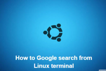 How to Google search from Linux terminal – Build your own search engine