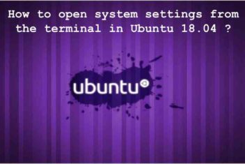 How to open System Settings from the terminal in Ubuntu 18.04?