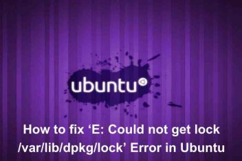 How to fix 'E: Could not get lock /var/lib/dpkg/lock' Error in Ubuntu