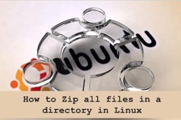 How to Zip all files in a directory in Linux