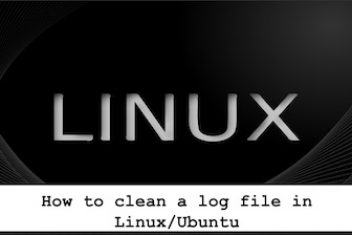 How to clean a log file in Linux/Ubuntu