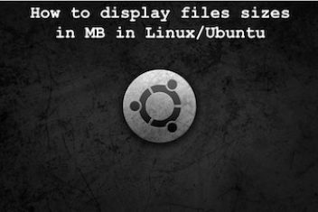 How to display files sizes in MB in Linux/Ubuntu