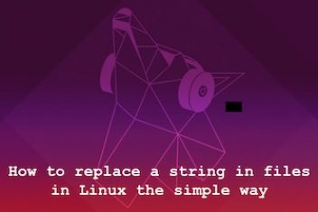 How to replace a string in files in Linux the simple way