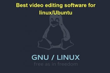 Best video editing software for linux/Ubuntu