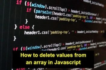 How to delete values ​​from an array in Javascript
