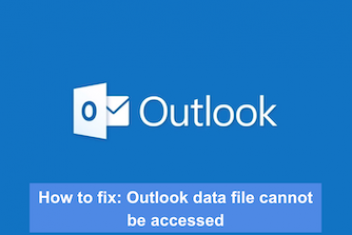 How to fix: Outlook data file cannot be accessed