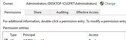outlook data file cannot be accessed pemissions