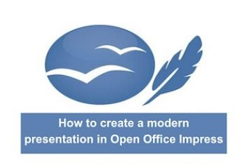 How to create a modern presentation in Open Office Impress