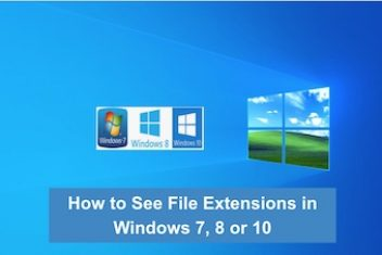 How to See File Extensions in Windows 7, 8 or 10