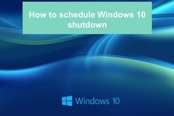 How to schedule Windows 10 shutdown