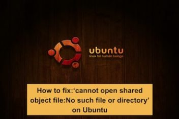 How to fix: 'cannot open shared object file : No such file or directory' on Ubuntu
