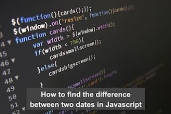 How to find the difference between two dates in Javascript