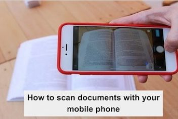 How to scan documents with your mobile phone