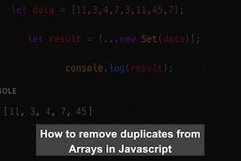 How to remove duplicates from Arrays in Javascript