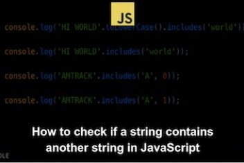 How to check if a string contains another string in JavaScript