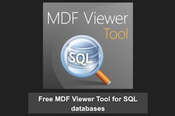 Free MDF Viewer Tool for SQL databases