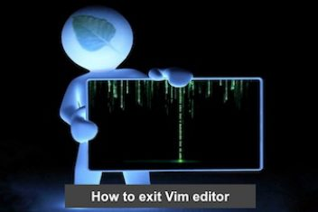 How to exit Vim editor