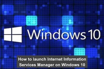 How to launch Internet Information Services Manager on Windows 10